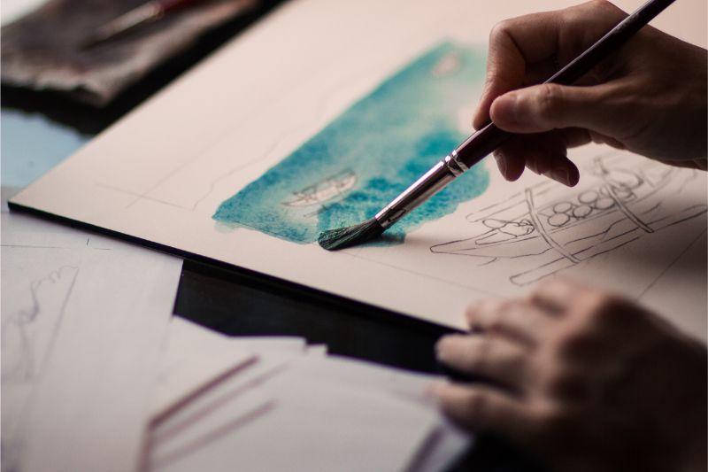 vijfde chakra schilderen